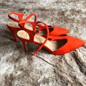 112e570b6d1af8 New Look Shoes - Wide-fit bright orange low heels